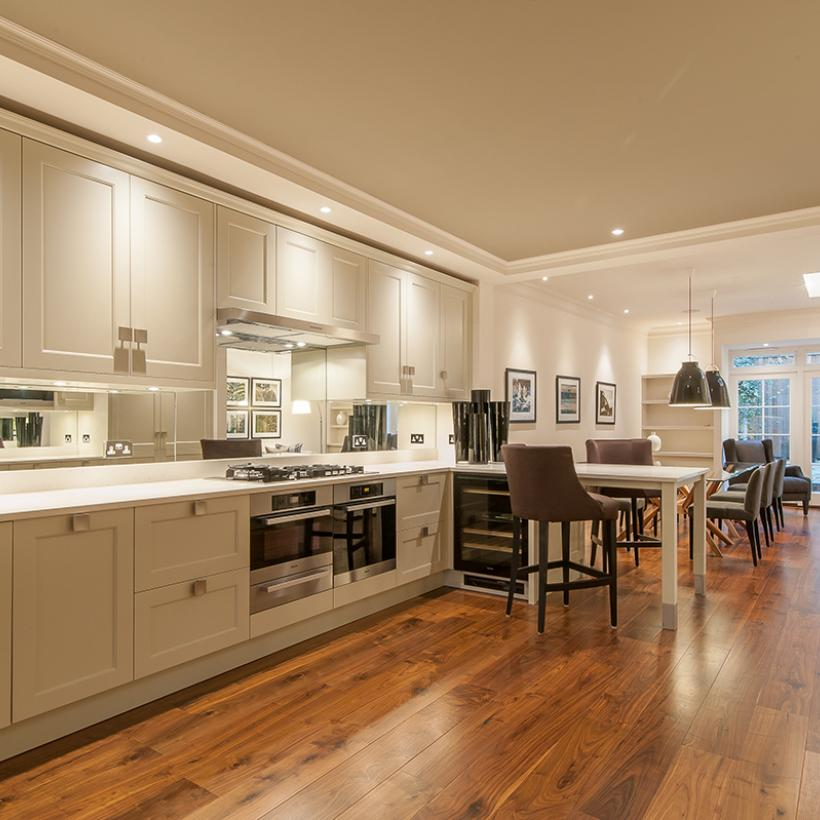 'Supreme' Black Walnut Engineered Flooring | Kitchen