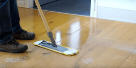 how to clean a wood floor