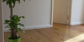 New engineered oak flooring in an old cottage in Derbyshire
